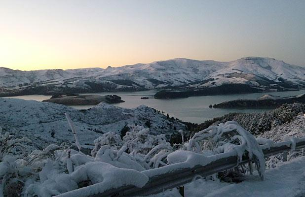 BREATHTAKING: The view of Lyttelton Harbour from Dyers Pass Rd.