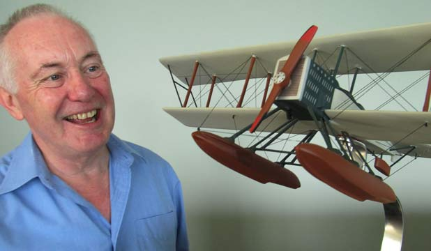MYSTERIOUS: Martin Butler believes he's solved the mystery of the secret boeing aircrafts hidden in North Head.