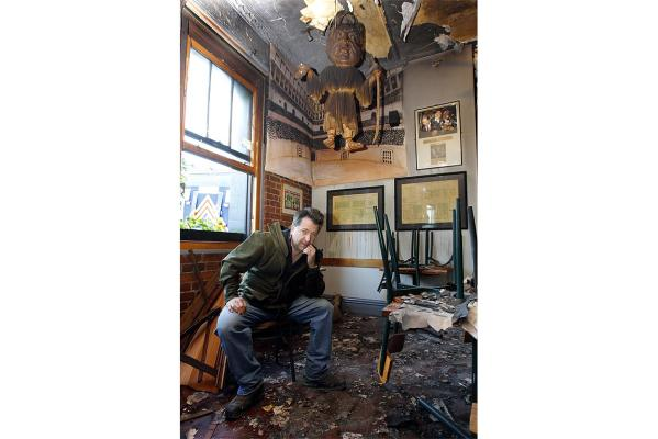 AFTERMATH: Backbencher Pub owner Alistair Boyce.