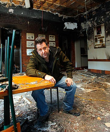 DISTRAUGHT: Backbencher pub owner Alistair Boyce says the pub will reopen in about four weeks.