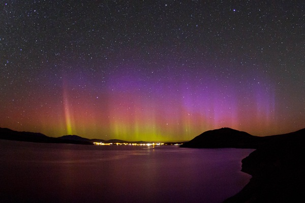 THE LIGHT FANTASTIC: Aurora Australis seen from Tekapo late on the evening of March 16.