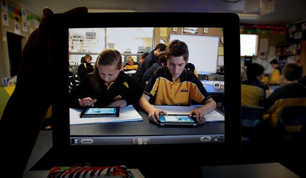 Bluestone year 8 pupils Kate Taylor and Dylan Hurst