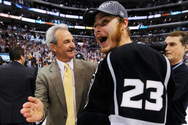 Darryl Sutter and Dustin Brown