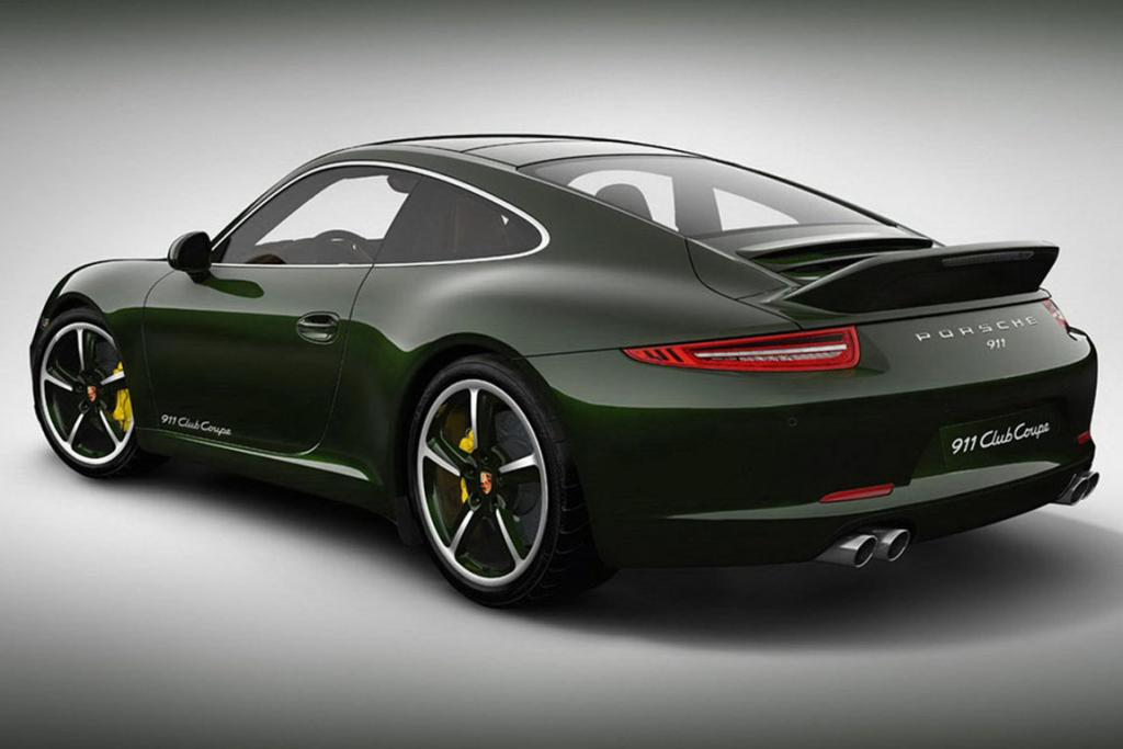 All Porsche club coupes will be Brewster Green on the outside.