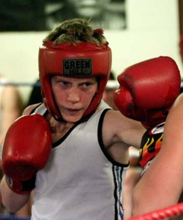 RISING TALENT: Callum Farrelly, 13, won the Australasian Champion Boxer under-40kg title last month and hopes to fight in Australia.