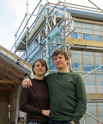 HAPPY HOME: Jo Woods and Shay Brazier are building the first Zero Energy House in the country and want to see more people take the same route as them.
