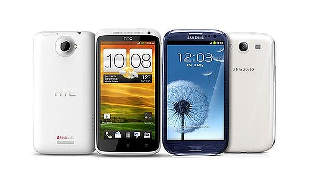 HTC One X and Samsung Galaxy S III