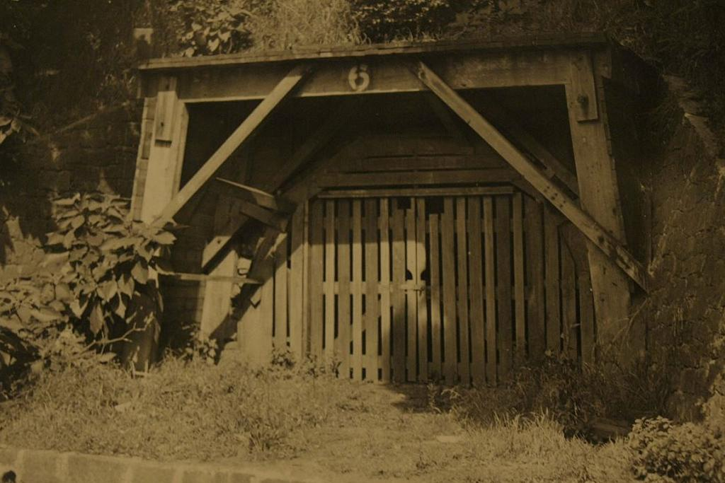 The entrance to tunnel number six as it looked in the 1920s.