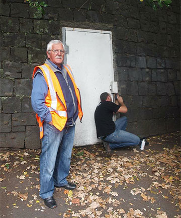 PRESERVING HERITAGE: Bill Reid at the entrance of tunnel number six.