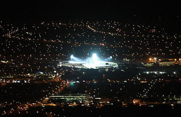 Christchurch city lights - aerial