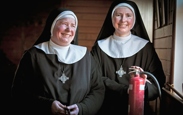 Mother Joanna Hope, left, and Mother Justin Allchurch