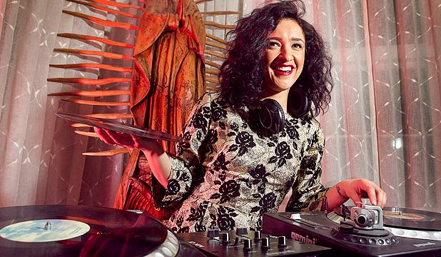 WHALE RIDER: Keisha Castle-Hughes is trying her hand at DJing.