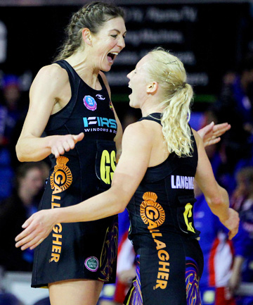Irene van Dyk and Laura Langman