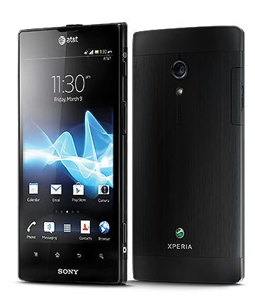 TOUCH AND GO: Sony's Xperia Ion smartphone was announced last week.