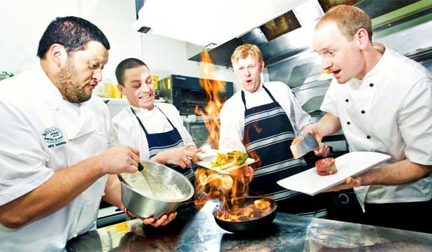 PLATE THIS UP: Wellington on a Plate chefs Rex Morgan, Jacob Brown, Shaun Clouston and Tom Hutchison.