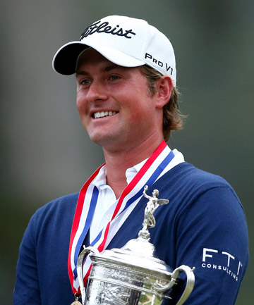 SHARING IT ROUND: US Open champion Webb Simpson is the 15th consecutive different golfer to win a major championship.