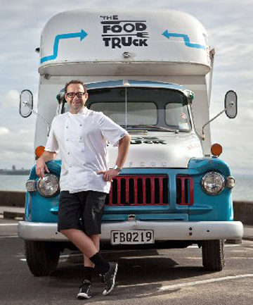 KEEP ON TRUCKIN': Chef Michael Van de Elzen and his food truck.