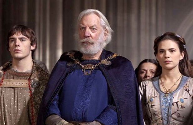 MEDIEVAL MARVEL: Donald Sutherland as Bartholomew, centre, is an imposing and welcome figure in any series.