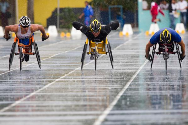 Paralympians train