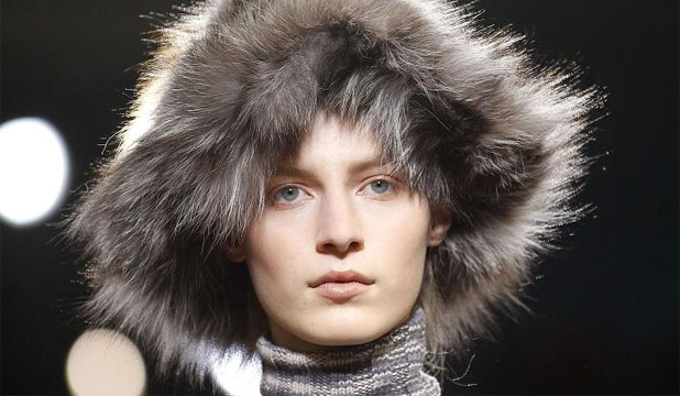 BARE NAKED: Mascara-free lashes on the runway at Missoni Winter 2012.