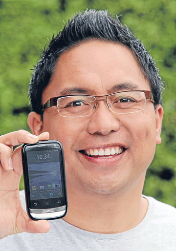 FIRST LOVE: Ken Setiu's first smart phone, a Huawei IDEOS X3, is his favourite gadget.