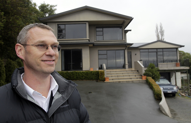 NOT WANTED: Mark Marcijasz outside a five-bedroom Huntsbury house he advertised to rent at $450 a week. No-one called.