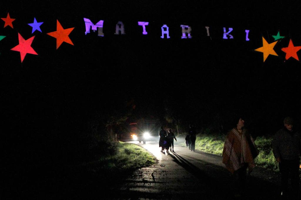 People walk along the Railway Reserve Walkway during the Matariki celebrations in Nelson.