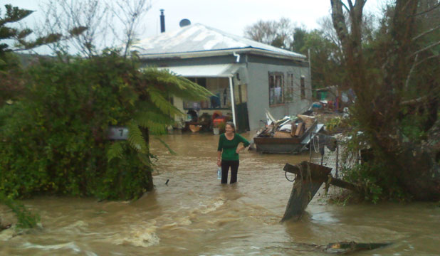 Reader Dale Small took this photo of his mother's house in Ward St, Runanga.