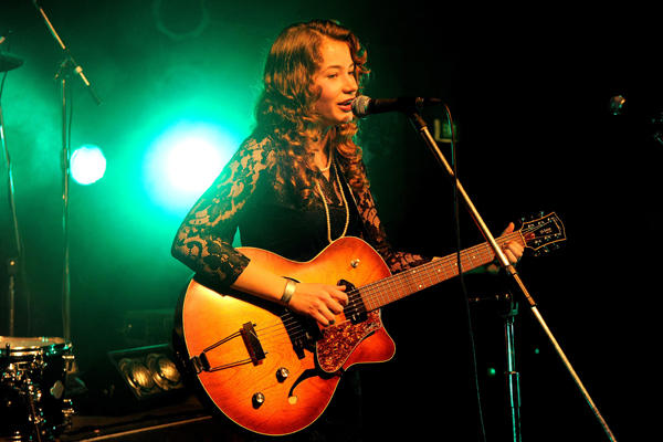Winner: Clara van Wel performing at Smokefreerock on Saturday night.