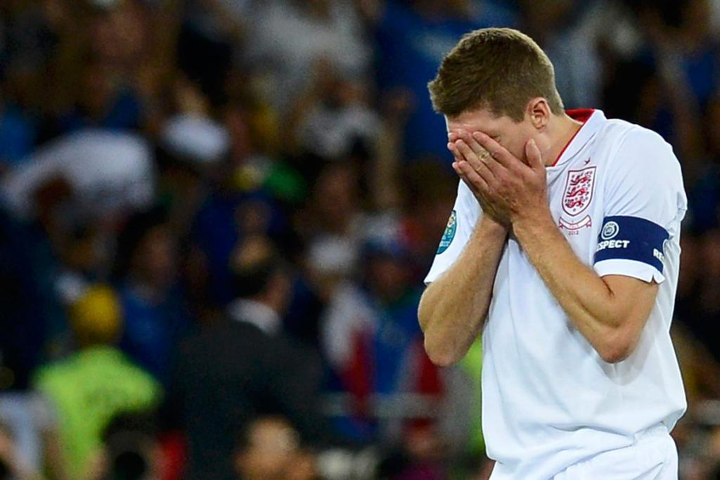 England captain Steven Gerrard is despondent after his team bowed out of Euro 2012 in the quarter-finals following a penalty shootout against Italy.