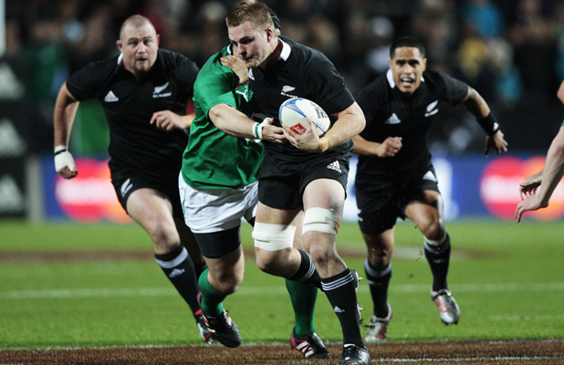 Sam Cane in action during the third test in Hamilton.