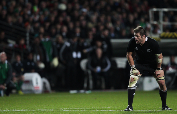 Richie McCaw in the third test against Ireland at the Waikato Stadium.