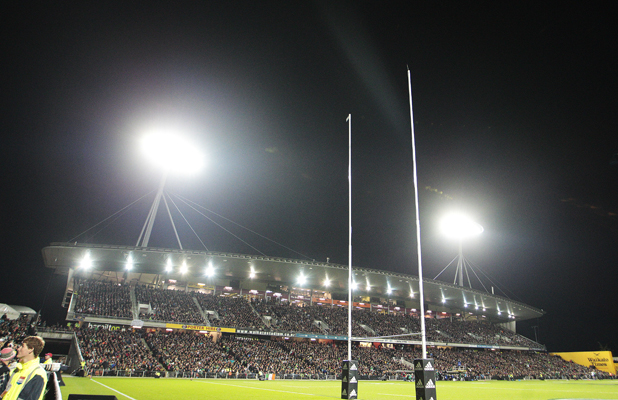Waikato Stadium before the start of the third test between the All Blacks and Ireland.