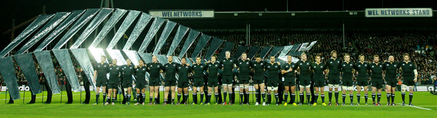 All Blacks before the start of the third test against Ireland.
