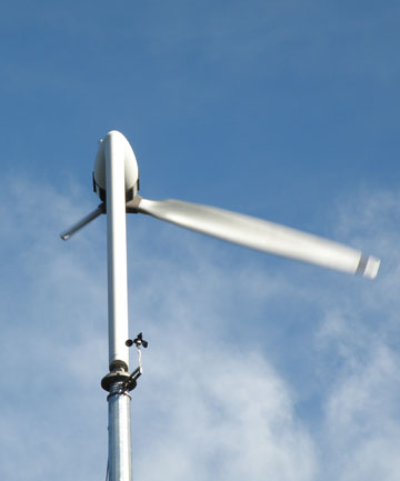 QUIETER: A new single blade wind turbine makes less noise than a two or more blade equivalent.