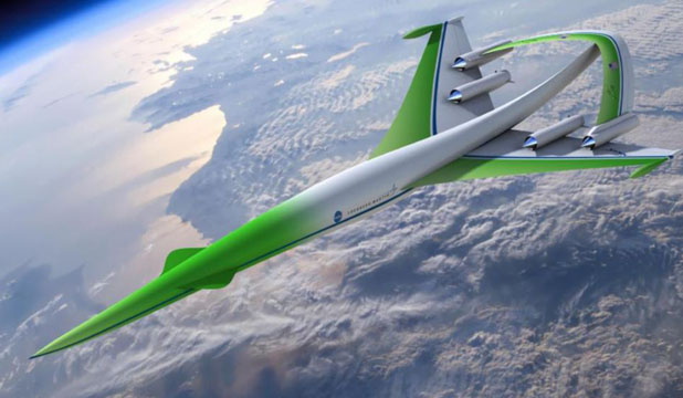 FUTURE OF AVIATION: One of Lockheed Martin's designs for a supersonic aircraft that could travel over land with reduced sonic booms.