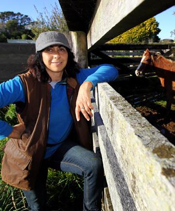 Debbie Newton plans to use her four Kaimanawa horses in her trekking business.