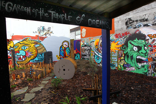 DROP IN: Cannabis users would be welcome in the the back garden of The Garden of the Temple of Dreams Fine Filter Coffee House which is to open next month.