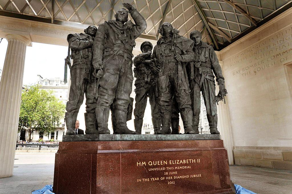 The Bomber Command Memorial in Green Park.