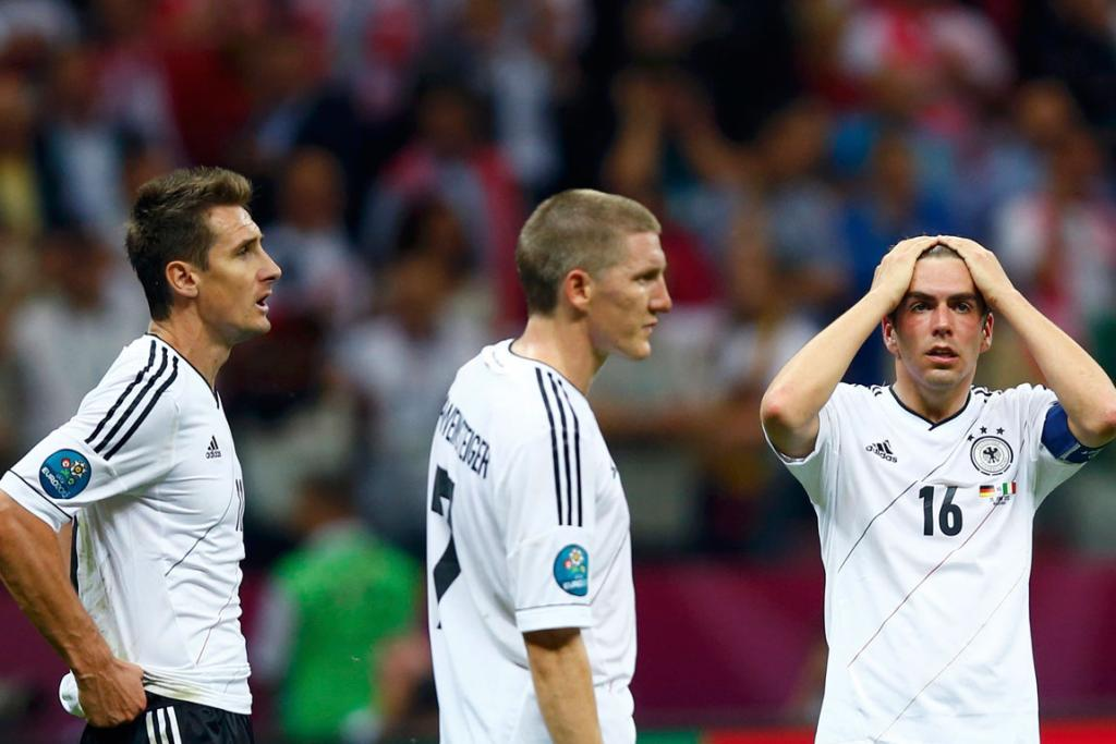 Germany's players are downcast following their Euro 2012 semi-final exit.