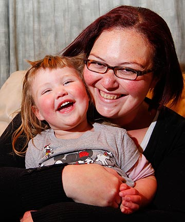 TOO DEAR: Alma Shaw, mum of two-year-old Lily Scott, left her last doctor because it was too expensive to take her young child and she could not afford it as a single mum.