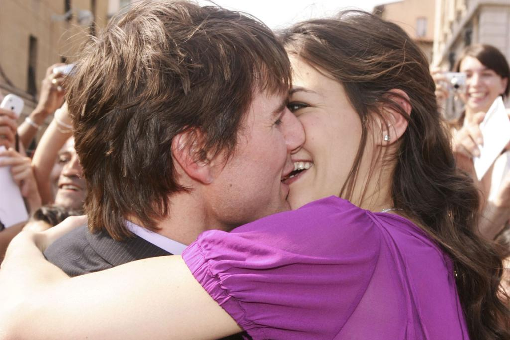 The couple in France on the day of their engagement, June 17, 2005.