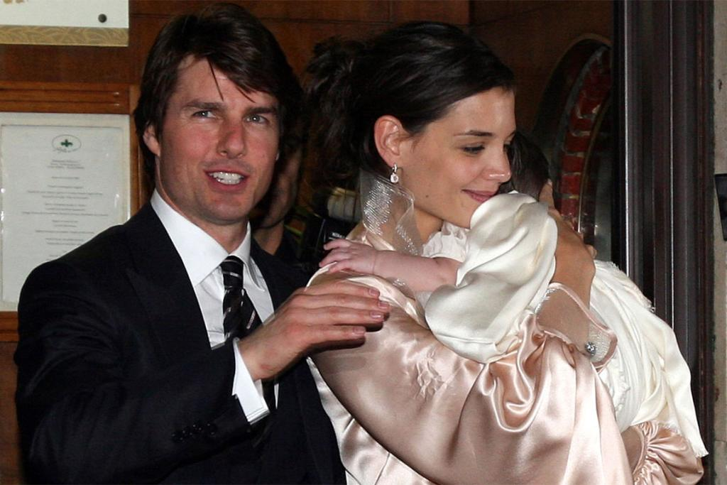 The Cruises with their seven-month-old daughter Suri in November 2006. They kept photos of Suri under wraps for six months after her birth, leading some to question the baby's existence.
