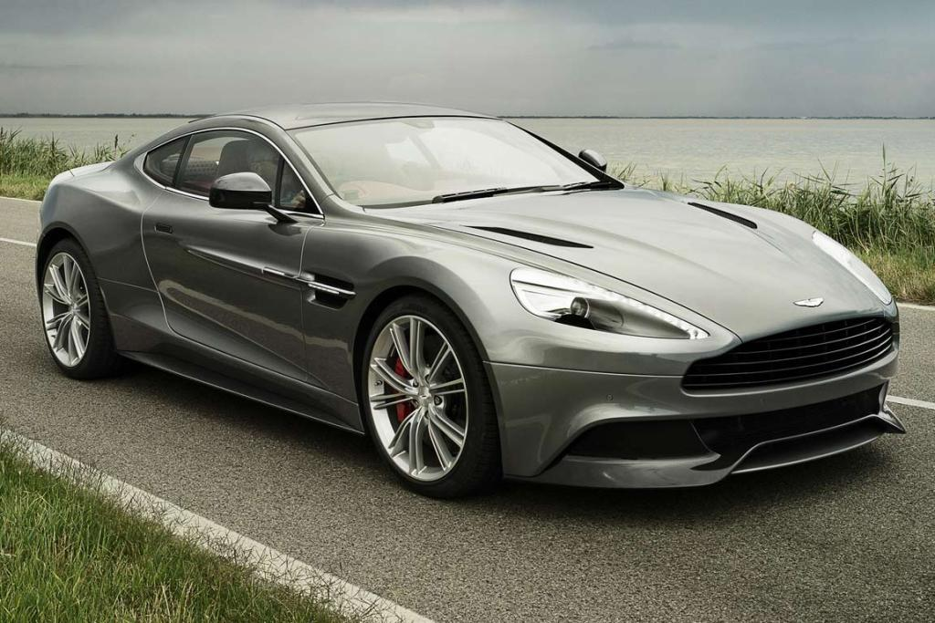 Aston Martin Vanquish: The car has similar proportions to the earlier cars, but the pinched waist and the curves around the centre of the car are new.