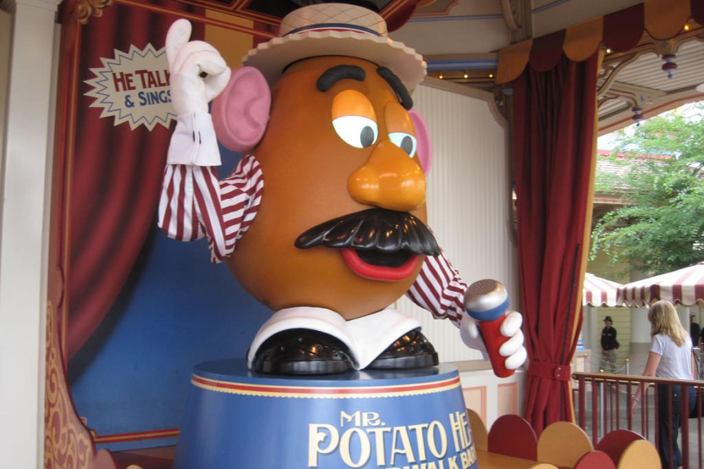 Mr Potato Head at Toy Story Midway Mania.