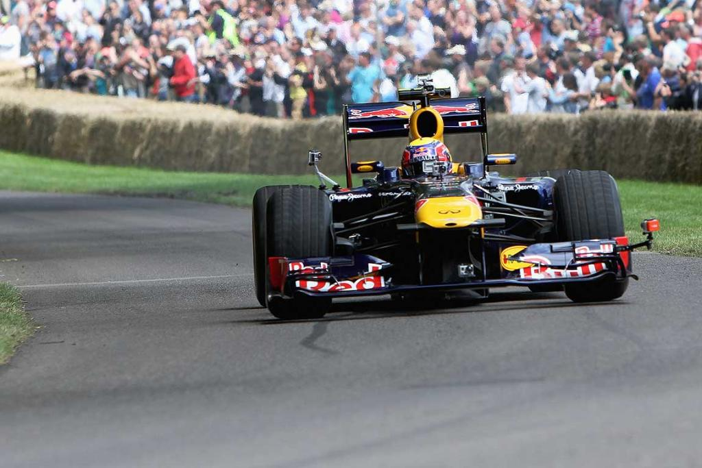 Mark Webber at the 2012 Goodwood Festival of Speed in Chichester, England.