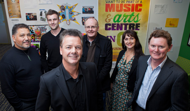 STEP CLOSER: From left: Bernard Makoare, Adam Taylor, Lindsay Mackie, David Fullbrook, Debbie Tikao and Hamish Cameron have been selected as the master planning and design team for the Glen Innes Music and Arts Centre.