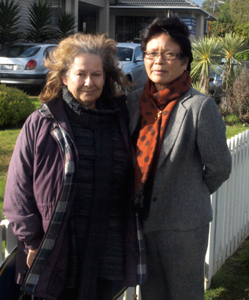 BRASSED OFF: Anne Langford and Coral Wong have both received offers from Auckland Council to purchase the front of their properties.