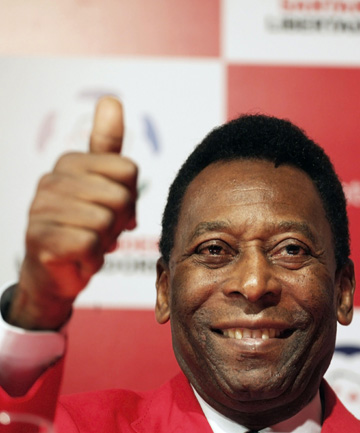 STILL THE BEST: Pele says the 1970 Brazil side is still better than the current Spanish team given their number of star players.