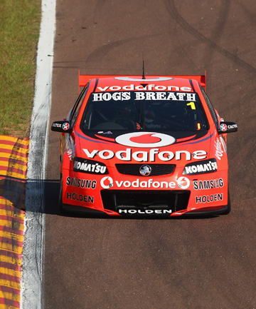 VICTORY: Holden's Jamie Whincup has continued his love affair with Townsville.